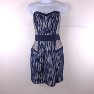Milly Strapless Sweetheart Navy Dress Size 12